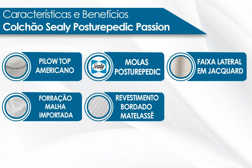 Colchão Sealy de Molas Posturepedic Passion Pillow Top