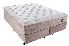 Conjunto Cama Box - Colchão Sealy de Molas Pocket Miami + Cama Box Universal Courino Bianco