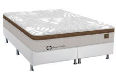 Conjunto Cama Box - Colchão Sealy de Molas Posturepedic Royal Comfort Plus + Cama Box Courino Bianco